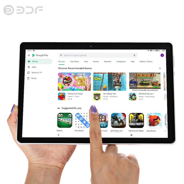 Tablet DDF 2021  - Tela de 10.1 Polegadas - Sistema Operacional Android 9.0 - Processador Octa-Core  4