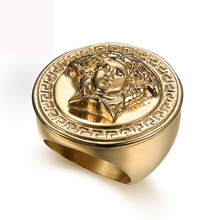 AnLuxury Tique Rings For Men With Stereoscopic Figure Minimalism Fashion Jewelry Free Shipping