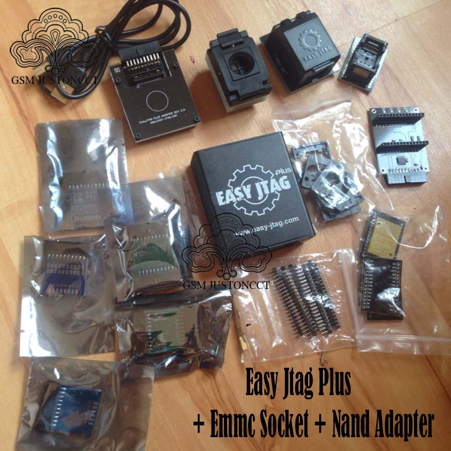 2020 Original New Z3x Easy Jtag Plus Box Set + EMMC Socket +NAND Socket Adapter