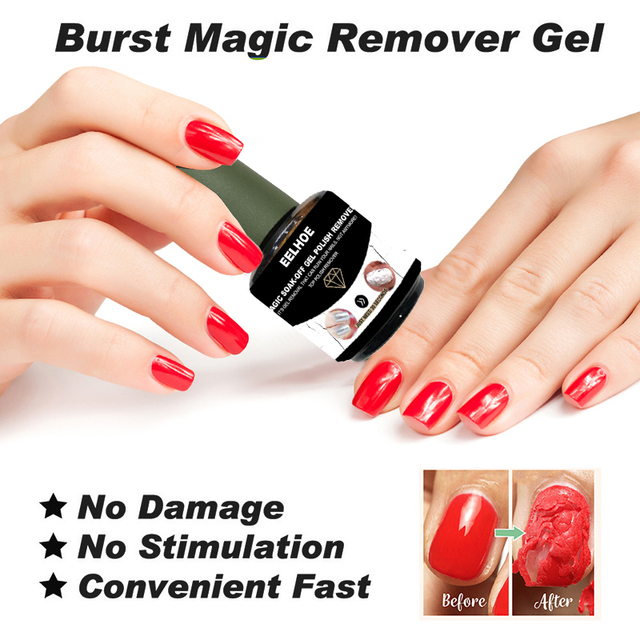 Nail Gel Polish Remover Magic Remover Healthy Fast Soak Off Gel Cleaner Nail Polish UV Burst Glue Nail Degreaser 15ml TSLM1|Nail Polish Remover|   -