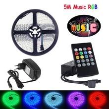 12V 5050 listwy RGB LED wodoodporna taśma diodowa WIFI LED muzyka 44Key IR zdalny Bluetooth kontroler 2M 5M 10M Adapter LED