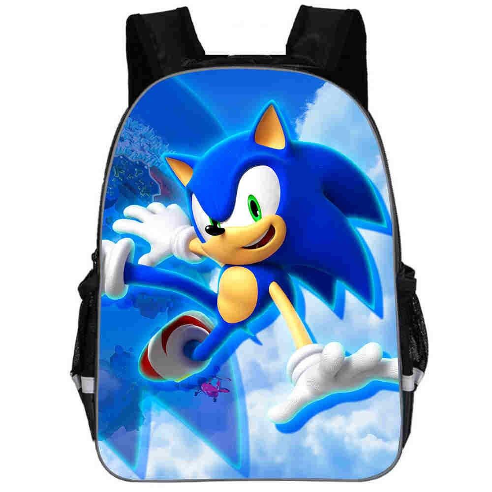 11-16 Inch Super Mario Bros Sonic Boom Hedgehogs Kindergarten School Bags Bookbags Children Baby Toddler Bag Kids Backpack Gift