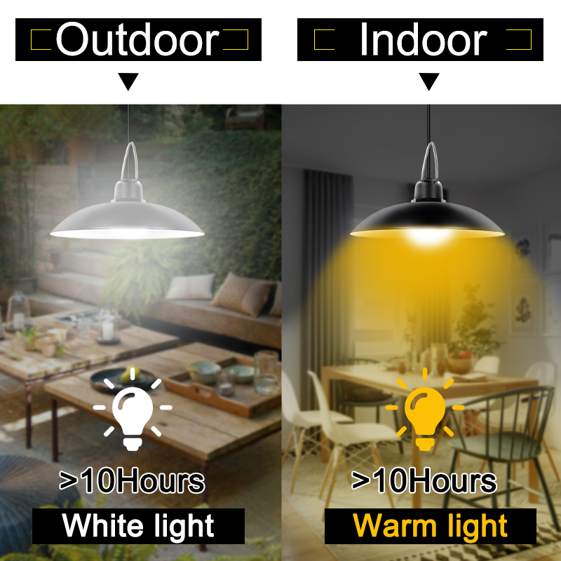 Single and Double Head Solar Pendant Light for Outdoor and Indoor With White and Warm White Lighting 4