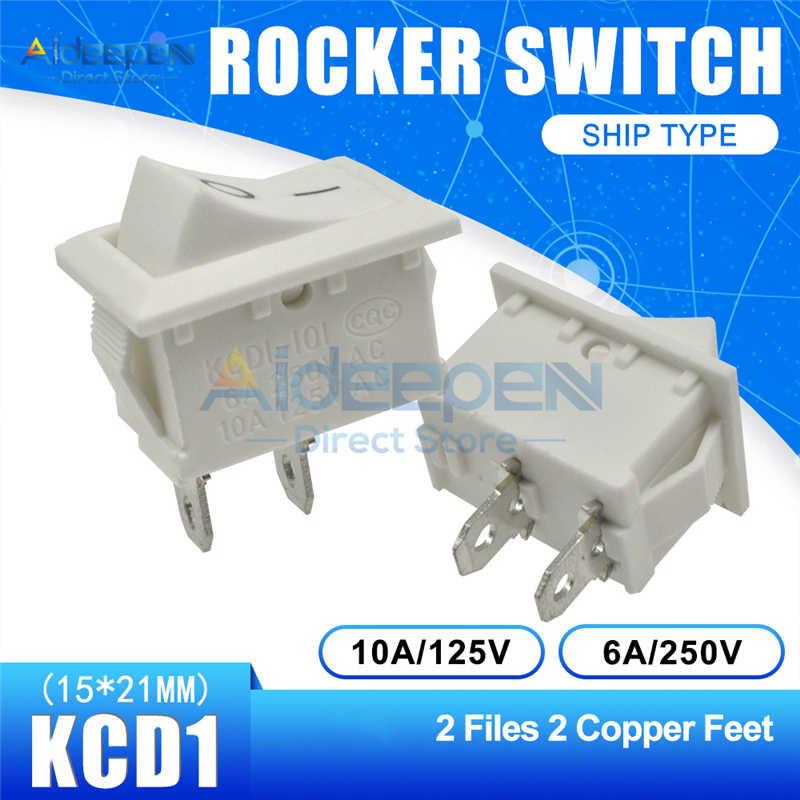 KCD1 15x21mm Boot Rocker Schalter AC 10A/125V 6A/250V 2 Datei 3 dateien 2/3/4/6 Kupfer Füße Taste Schalter 15*21MM Mit Wasserdichte Kappe