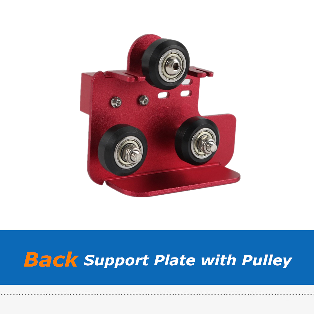 1pc CR10S PRO 3D Printer Parts Extruder Back Support Plate with Pulley For 3D Printer Accessories