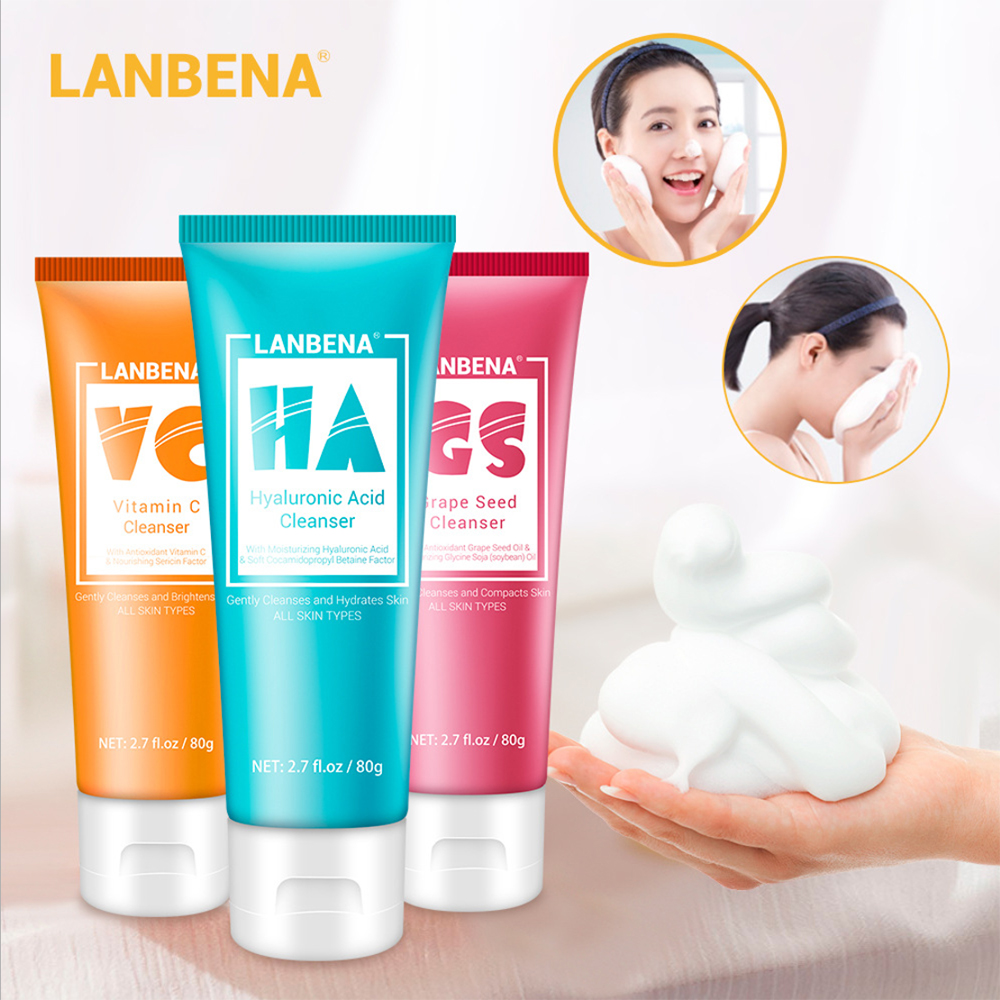 Facial Cleanser Face Wash For Dry Skin Oil Skin Combination Skin Moisture Oil Control Scrub Moisturizing Control Shrink Pore image