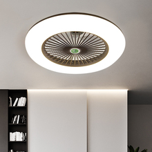 LED Fans Invisible Leaves Ultra-thin Ceiling Fan Lights Dimming Remote Control Plafonnier Lampara Techo Bedroom Ceiling Lamps cheap NoEnName_Null CN(Origin) iron Ceiling Fans 3 years LED Bulbs Modern