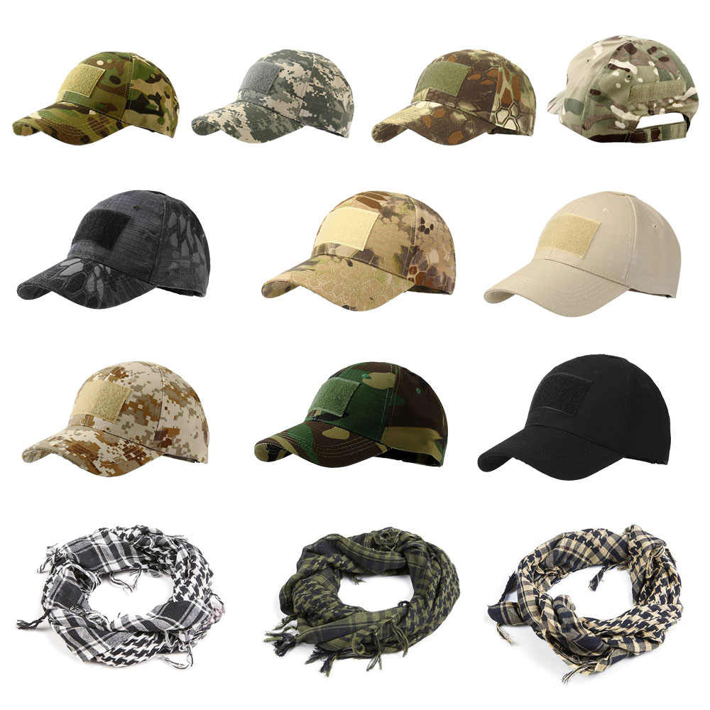 1PC Outdoor Sport Tactical Cap Camouflage Hat Simplicity Tactical Military Army Hat Camo Hunting Cap Snapback Caps For Men Adult