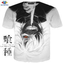 SONSPEE Anime Harajuku T-Shirt Tokyo Ghoul vêtements neutre adulte décontracté mode T-Shirt à manches courtes chemise Kidst Cosplay(China)