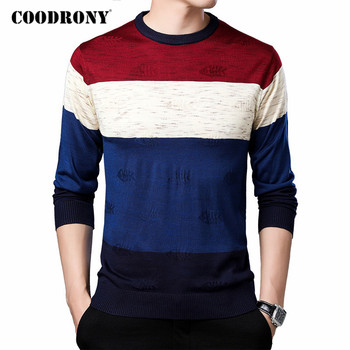 COODRONY Sweater Men Spring Autumn Casual Knitwear Pull Homme Streetwear Fashion Striped O-Neck Pullover Shirt Men Clothes C1080 coodrony brand wool sweater men streetwear fashion striped pull homme spring autumn casual knitwear v neck pullover shirts c1089