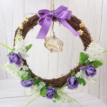 Guirnalda de Mubarak Eid, guirnalda de Jacinto para Ramadán, decoración de colgantes artificiales islámicos musulmanes, decoración de colgante de flores