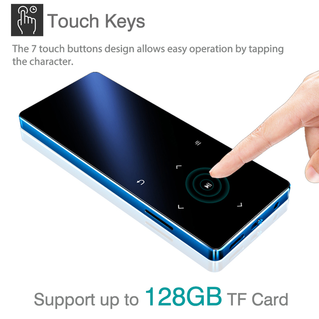 REDANT MP3 Player with Bluetooth Speaker Touch key Built-in 8GB 16GB HiFi Metal Mini Portable Walkman with radio FM recording 4