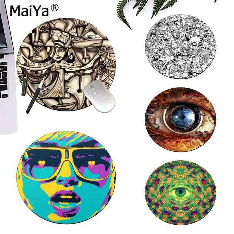 MaiYa Top Qualità Occhio Colorato Disegno di ARTE dei graffiti di Gomma Computer Gaming mousepad gaming Mousepad Tappetini Per PC Del Computer Portatile Notebook