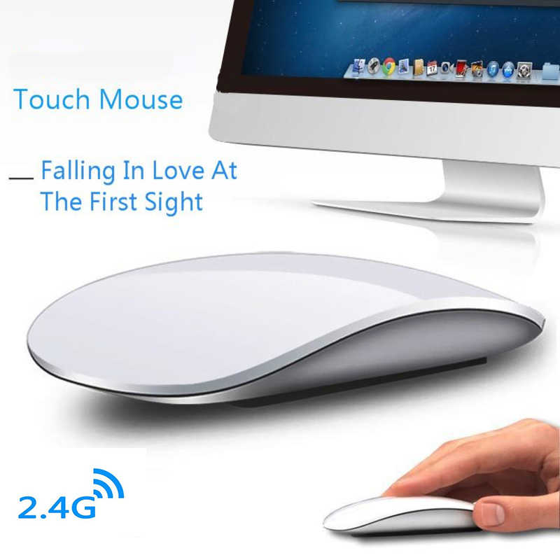 Nirkabel Arc Touch Mouse Komputer untuk Apple MacBook Ergonomis Ultra Tipis USB Optik Mause 3D Slim Sihir PC Tikus 2 untuk Laptop