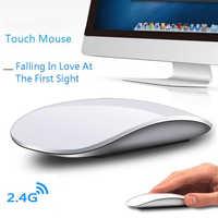 Bezprzewodowa mysz komputerowa Arc Touch dla Apple Macbook ergonomiczne Ultra cienkie optyczne Usb Mause 3d Slim magiczne myszki komputerowe 2 na laptopa
