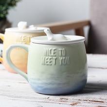 Seaworld Beautiful Ceramic Cup with Lid Tea Milk Coffee Mug Home Office Drinkware Waterware Lovers Gift good morning cute ceramic mug with lid tea milk coffee mug cup home school kids drinkware waterware gift