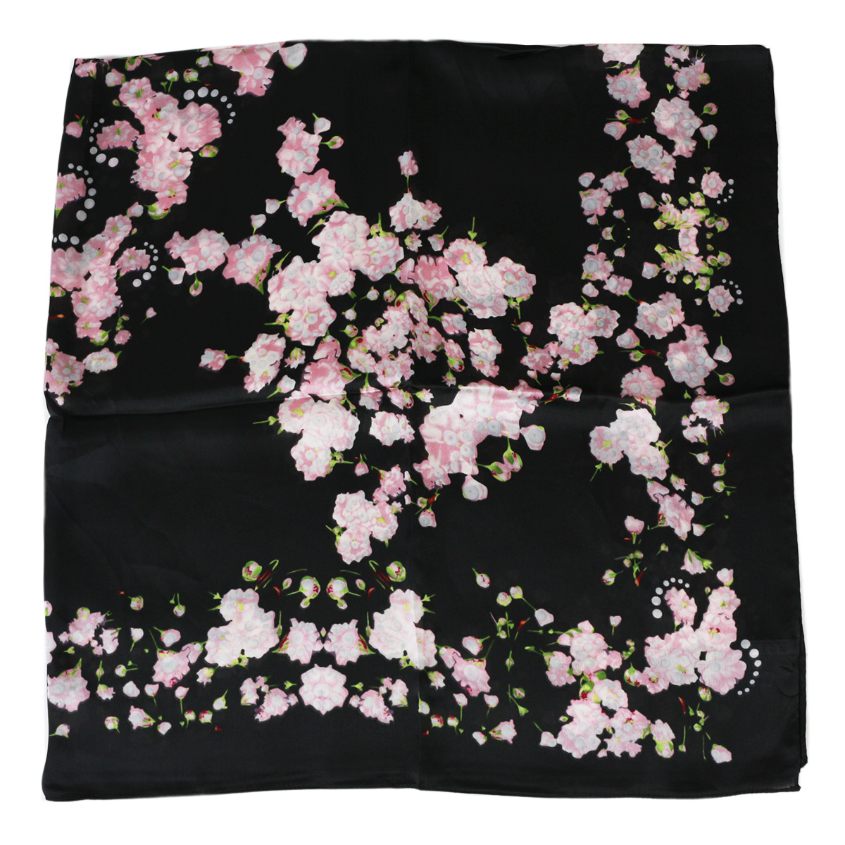 suqare 110cm scarf printing silk scarf flower retro large shawls wrapped head bandana elegant silk square plain hijab scarf in Women 39 s Scarves from Apparel Accessories