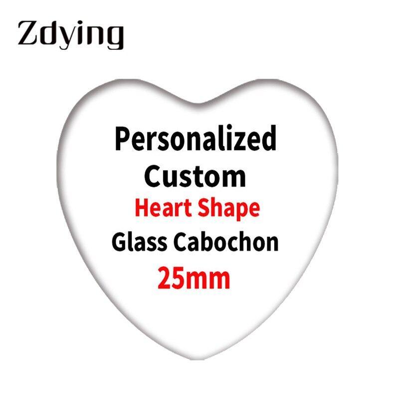 5 шт. персонализированный стеклянный кабошон zmo в форме сердца на заказ фото демонстрация плоская задняя сторона Сделай Сам Изготовление ювелирных изделий фурнитура и компоненты|Индивидуальные Бусины| | АлиЭкспресс