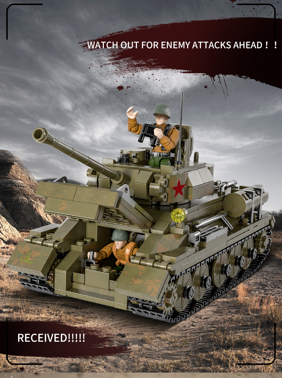 "конструктор huiqibao ""танк т-34"", 854 шт."