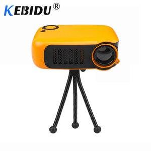 Image 1 - Kebidu מיני נייד מקרן 800 לום תומך 1080P LCD 50000 שעות מנורת חיים קולנוע ביתי וידאו מקרן עבור האיחוד האירופי תקע