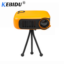 Kebidu Mini Portable Projector 800 Lumen Supports 1080P LCD 50000 Hours Lamp Life Home Theater Video Projector For EU Plug