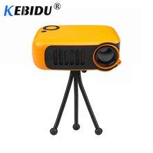 Kebidu Mini Portatile Proiettore 800 Lumen Supporta 1080P Lcd 50000 Ore di Vita Della Lampada Home Theater Video Proiettore per Ue spina