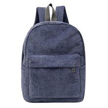 Вельветовый рюкзак однотонный повседневный для женщин и студентов