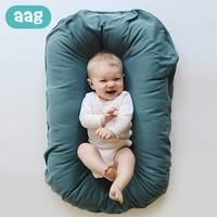 AAG Baby Bed Crib Newborn Baby Nest Cot Cribs Infant Newborn Portable Crib Travel Cradle Cushion Baby Bassinet Bumper Room Decor