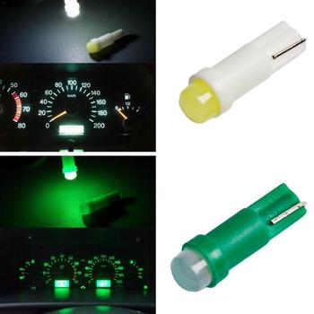 (One one sell) car bulb ceramic T5 car led instrument light lamp COB 3D 1SMD indicator astigmatism T5 makeup A1P8