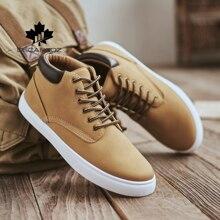 2020 bottes décontractées chaussures homme printemps automne plat hommes bottes confortable à lacets Designers populaire Style basique bottes hommes chaussures décontractées