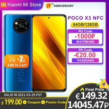 In Lager Globale Version Xiaomi POCO X3 NFC Smartphone 64GB 128GB Snapdragon 732G Octa Core 64MP 5160mAh Batterie 33W Schnelle Ladung cheap Nicht abnehmbar CN (Herkunft) Android Seite-montiert ≈64MP Quick Charge 4 0 english Russisch Deutsch French Spanish POLISH