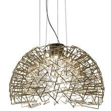 Modern small spherical crystal chandelier, light luxury art creative dining room bedroom fitting room art dandelion lamp