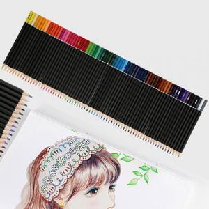 Image 5 - 72pcs 수채화 물감 아티스트 스케치 페인팅 전문 수용성 컬러 연필 학교 학생 아티스트 아트 용품