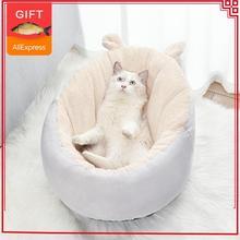 Casa de Gato para gatos, cama cálida para perros pequeños, perrera, casa de PP, nido de algodón, camas para gatitos, esterilla para dormir, cojín para perros, suministros para ventana