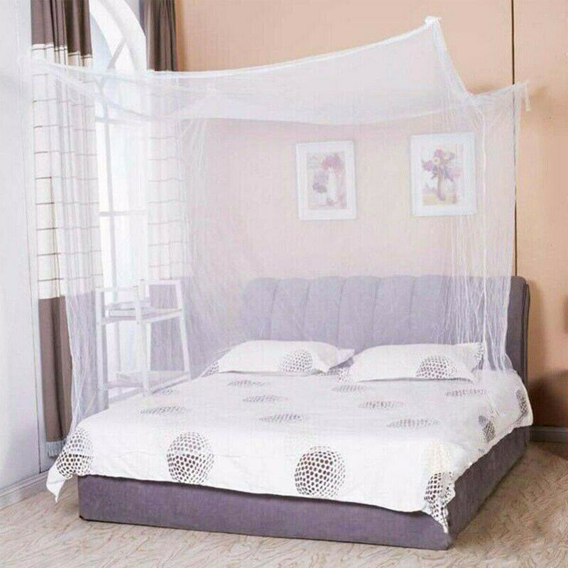 New Lace Bed Mosquito Net 4 Corner Post Bed Canopy Princess Full Size Futon Net Mosquito Insect Netting Mesh Canopy Bedding Net