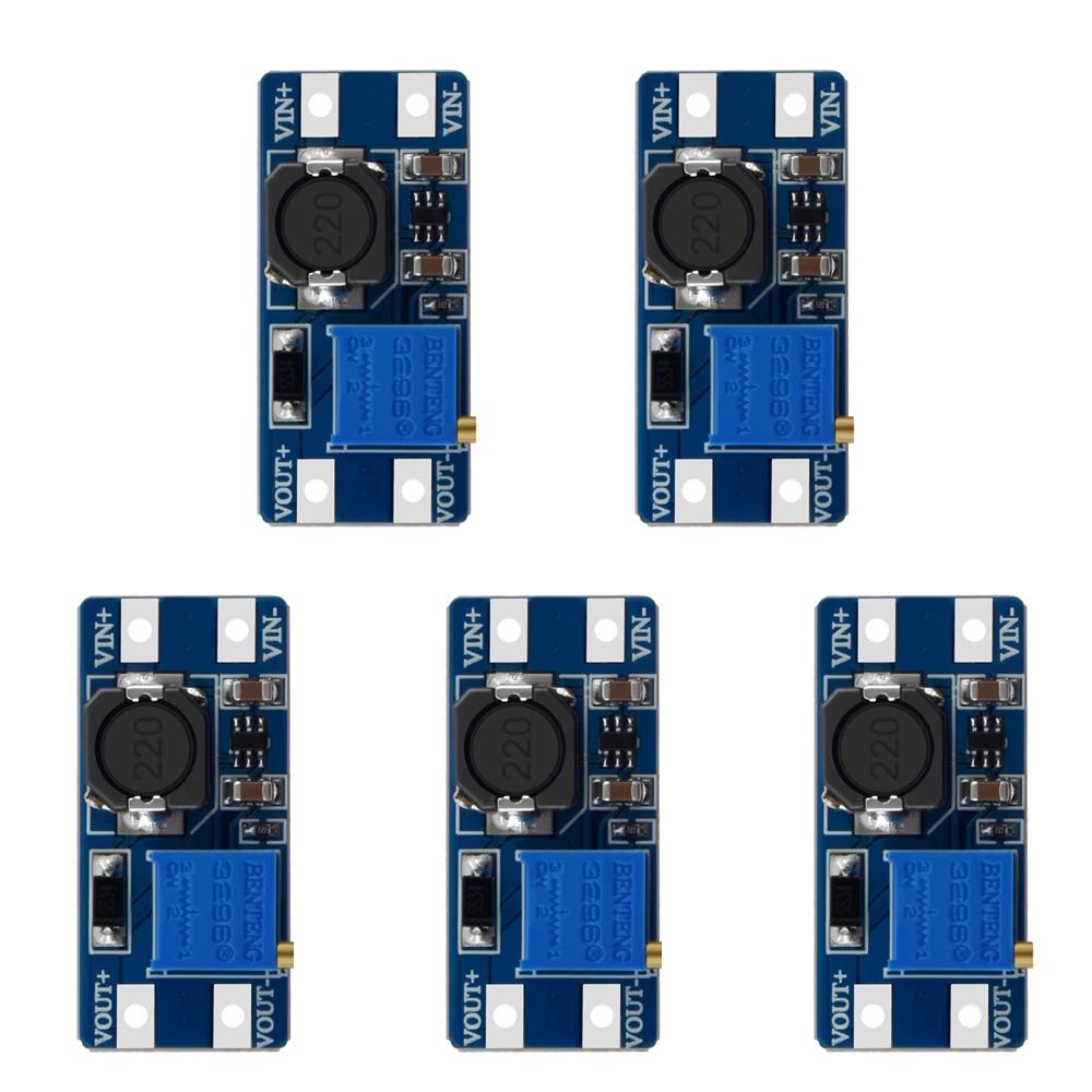 MT3608 DC-DC Step Up усилитель конвертера убранский модуль Boost-Step-Board MAX ausgang 28V 2A