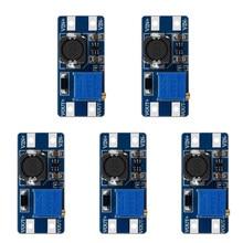 Mt3608 DC-DC passo acima conversor booster netzteil modul boost-step-up placa max ausgang 28v 2a