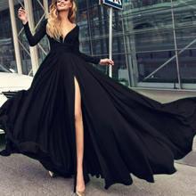 Кружевное Вечернее Платье с разрезом сбоку шифоновое платье
