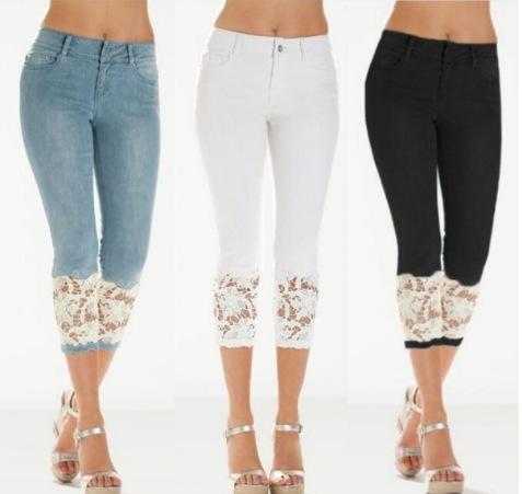 2019 Summer New Style Hot Selling Lace-up Women's Jeans Pants