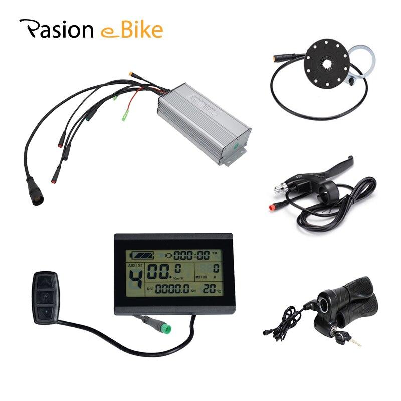 PASION E BIKE DC Sine Wave Waterproof 35A Controller 36/48V 750W Hub Motor Electric Bike Controller KT Controller LCD3/8 Display