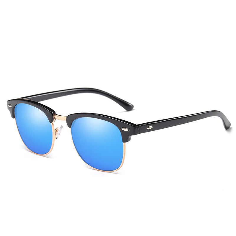 RBRARE Semi-Rimless แบรนด์ Designer แว่นตากันแดดผู้หญิง/ผู้ชาย Polarized UV400 คลาสสิก Oculos De SOL Gafas Retro แว่นตา