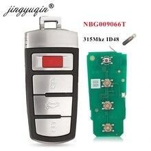 Jingyuqin חכם מרחוק רכב מפתח Fob 4 כפתורי 315MHz ID48 עבור פולקסווגן פולקסווגן פאסאט 2006 2013 CC 2009 2015 FCCID NBG009066T