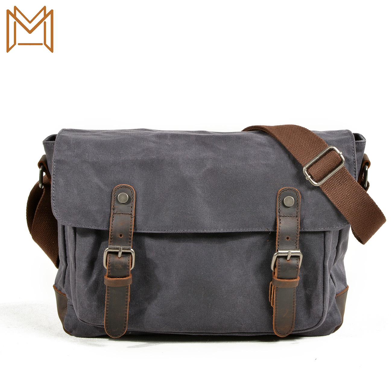 Male Package Outdoors Leisure Time Motion Oblique Package Canvas Bag Single Shoulder Messenger Man Waterproof Wax Oil