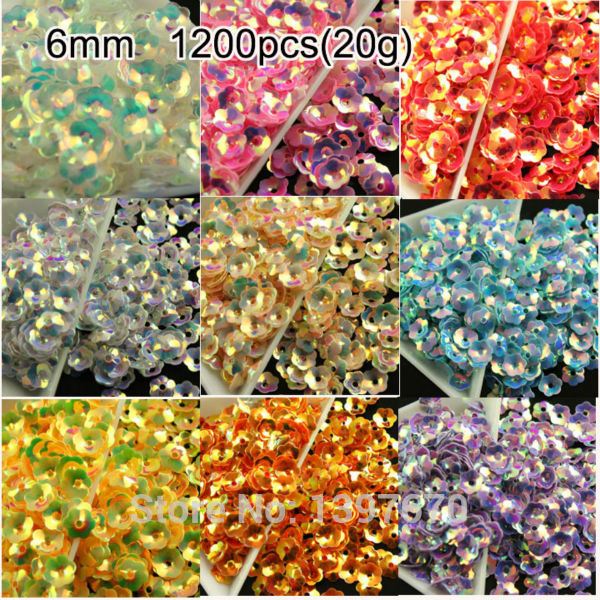 1000pcs 6mm rose Flowers ab colors AAA grade shiny flatback Loose Sequins Paillettes Clothes Sewing Wedding DIY Craft pk
