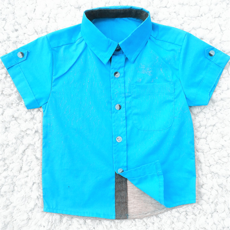 TC Summer 2020 New Boys Short Sleeve Classic Plaid Lapel Shirts Tops With Pocket Baby Boys Casual Shirt Kids Clothing