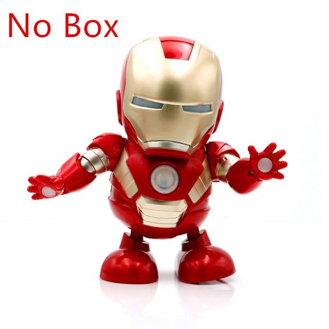 Tanzen Iron Man Avengers Action Figur Spielzeug Geschenk LED Licht mit Musik