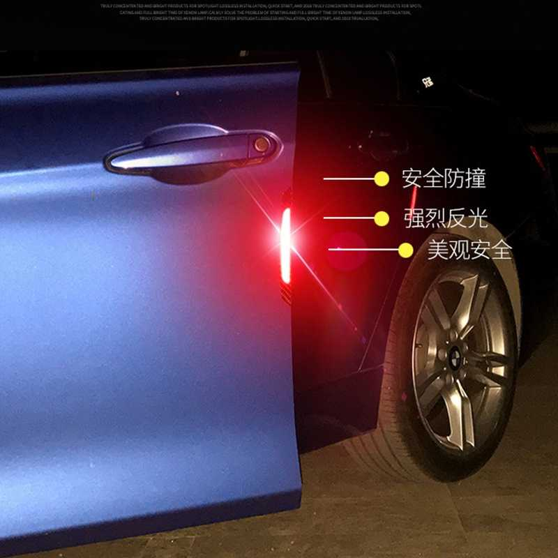 รถ 4Pcs Car EDGE EDGE GUARD Strip ป้องกัน Anti-collision Sticker Universal Auto ยาง Moldings