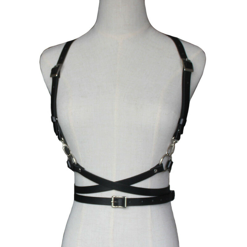 Retro Punk Strap Girdle Sexy Women Handmade Belt Decorative Shirt Dress PU Leather Smooth Buckle Vest Harness Belt