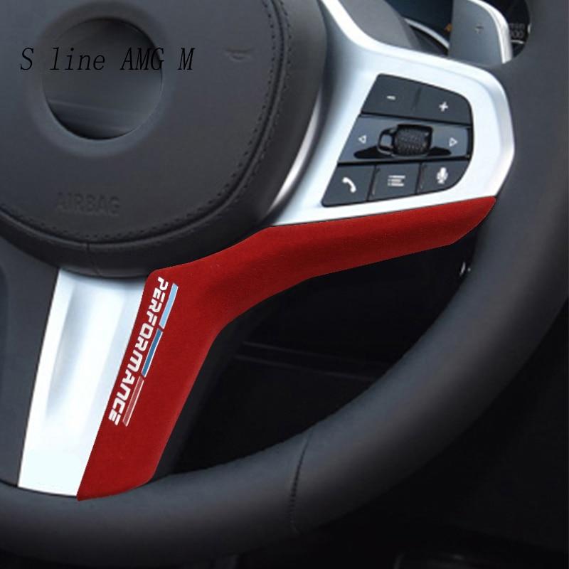 Автомобильный Стайлинг для BMW G20 G30 G38 G11 G12 G05 G01 G02 Z4 X3 X4 X5 1 3 5 7 серия замшевая Автомобильная Упаковка ABS чехлы на руль отделка