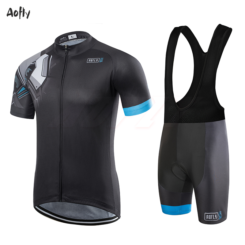 Aofly New Machine Ball Cycling Jersey Mujer Quick-drying Short-sleeved Tight Tops Men's Wear Cyclist Outdoor Sportswear Mtb Set